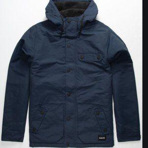 New HURLEY Slammer Navy Mens Hooded Jacket Sz M